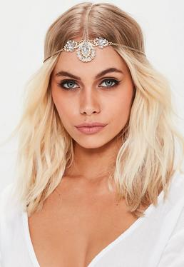 Gold Diamante Head Chain
