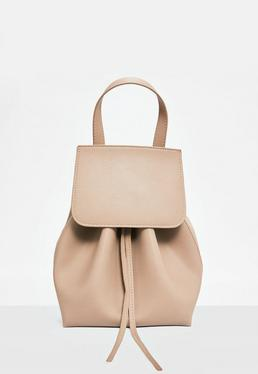 Nude Drawstring Backpack