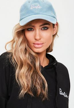 Barbie x Missguided Blue Fabric Embroidered Cap