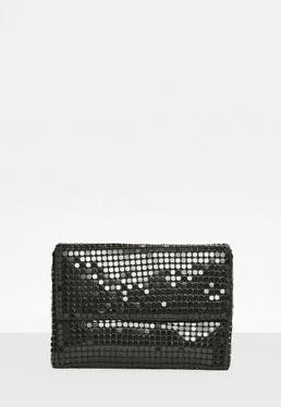 Black Chainmail Clutch Bag