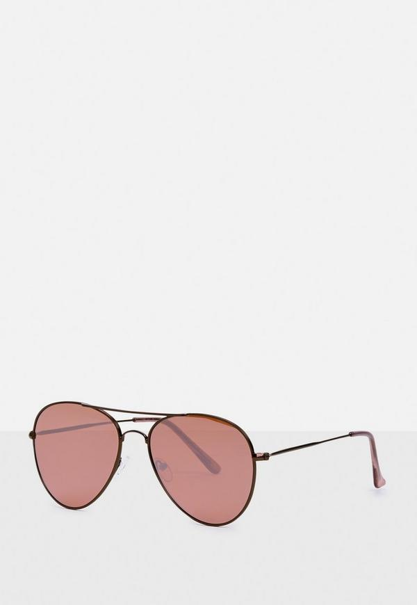 Black Tonal Aviator Sunglasses by Missguided