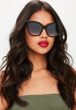 Black Oversized Simple Sunglasses