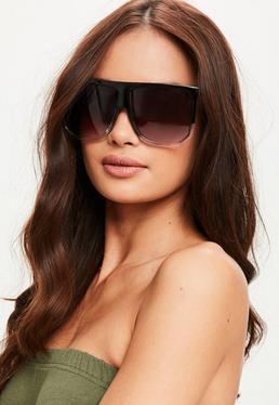 Czarne duże okulary przeciwsłoneczne