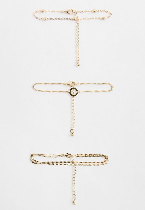 Gold Bracelets Pack Of 3 Bracelets