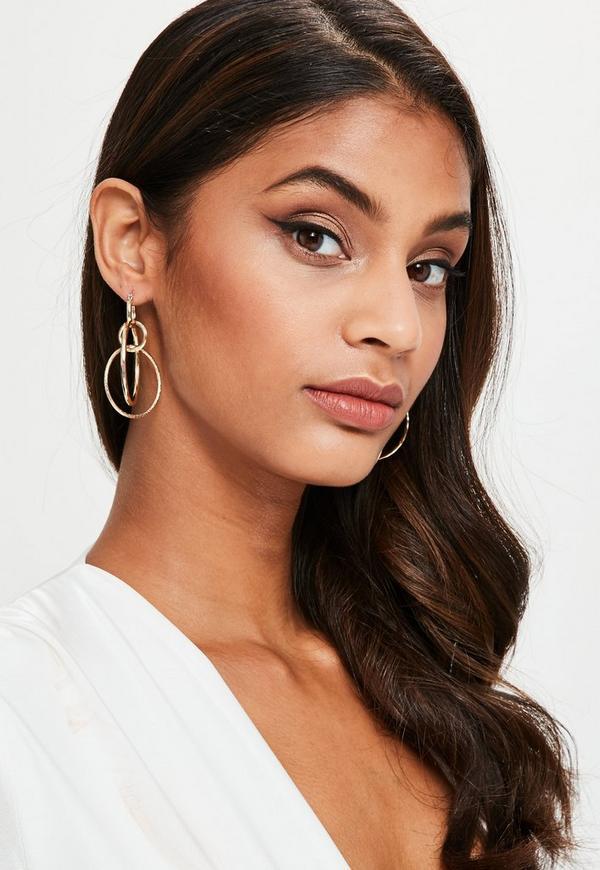 Gold Multi Hoop Earrings