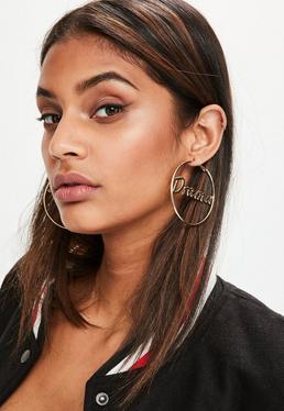 Gold Drama Hoop Earrings