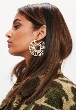 Gold 99 Problems Hoop Earrings