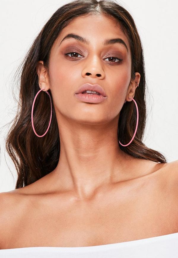 Pink Hooped Earrings