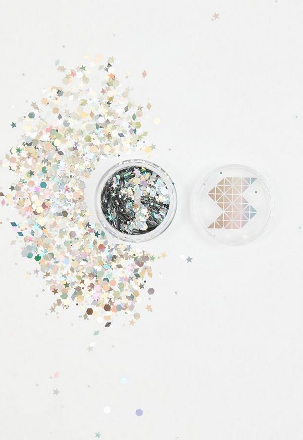 Shine Shack Silver Holographic Face&Body Glitter Mix