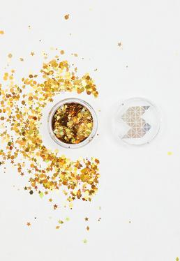 Shine Shack Gold Holographic Face&Body Glitter Mix