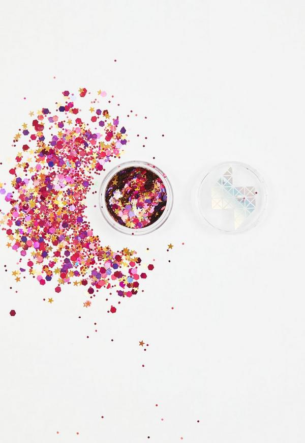 Shine Shack Red Holographic Face&Body Glitter Mix