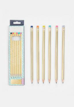 Gold Fancy Pencils
