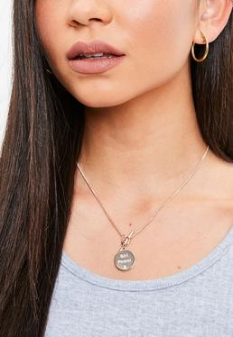 Rose Gold Girl Power Necklace