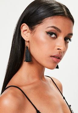 Black 3 Pack Hoop Earrings