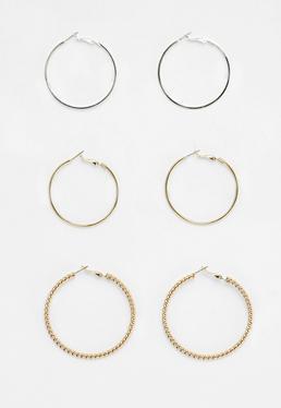 Gold 3 Pack Hoop Earrings