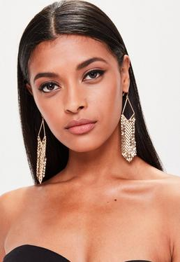 Gold Chain mail Earrings