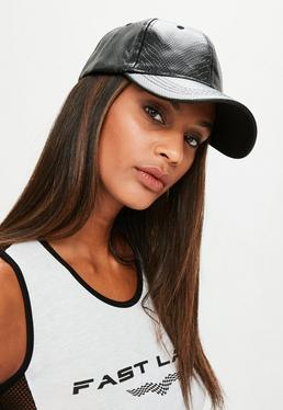 Black Snake Embossed Cap