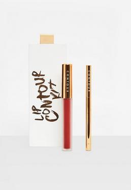 Rotes Mattes Liquid Lipstick & Lip-Liner Set
