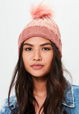 Różowa czapka Beanie