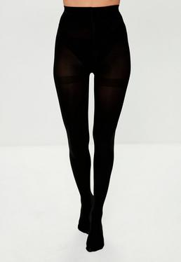 Black Opaque Pantyhose - 100 Denier