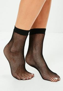 Black Fine Fishnet Socks