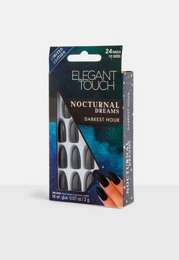 Black Nocturnal Darkest Hour Nails