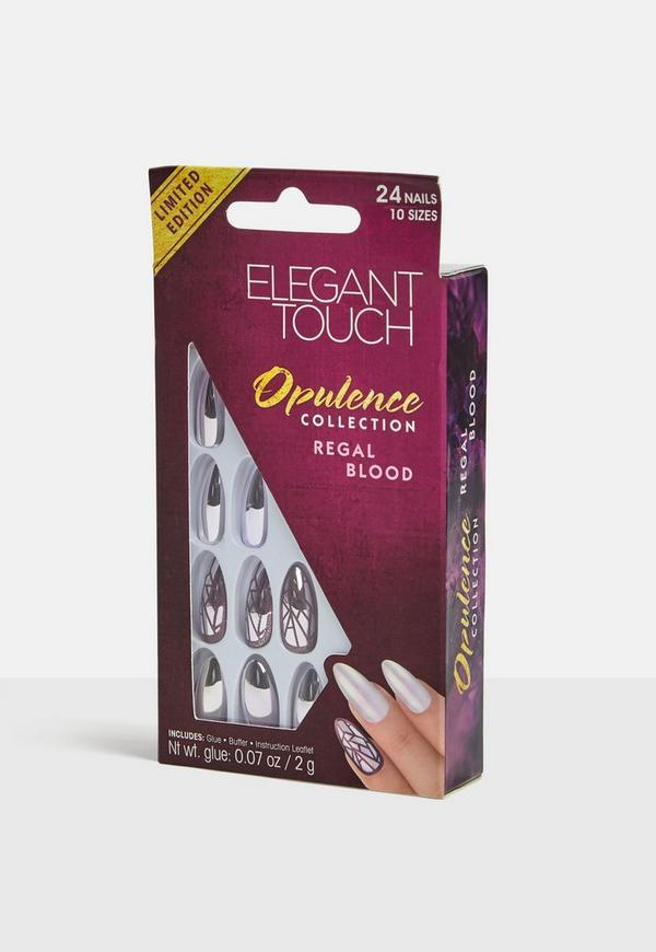 Elegant Touch Regal Blood Nails | Missguided