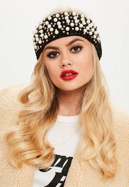 Black Pearl Embellished Headband