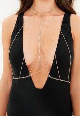 Gold Thin Multi Body Chain