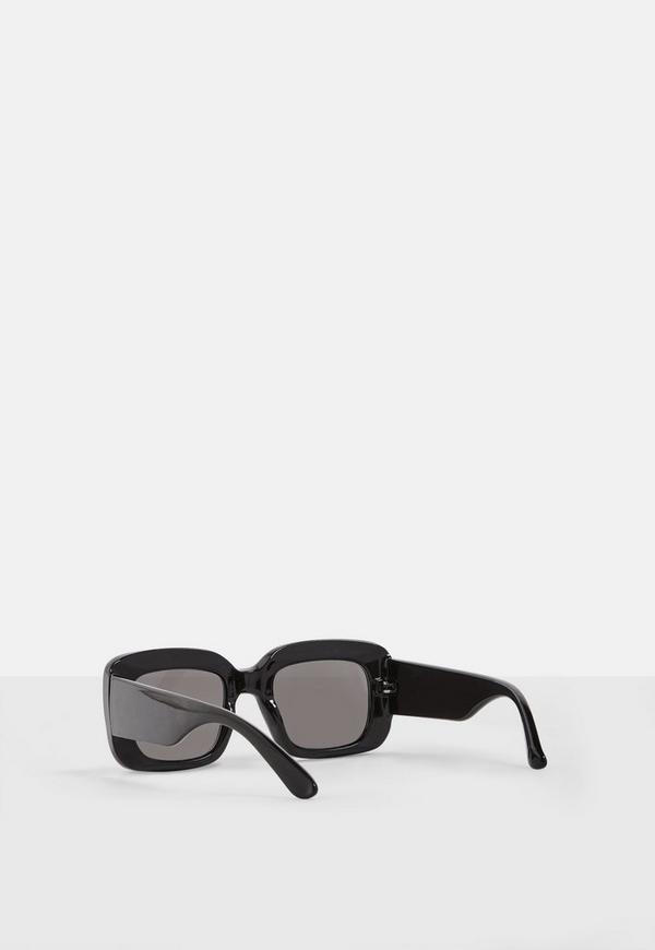 Madison Beer x Missguided Black Round Chunky Frame Sunglasses ...