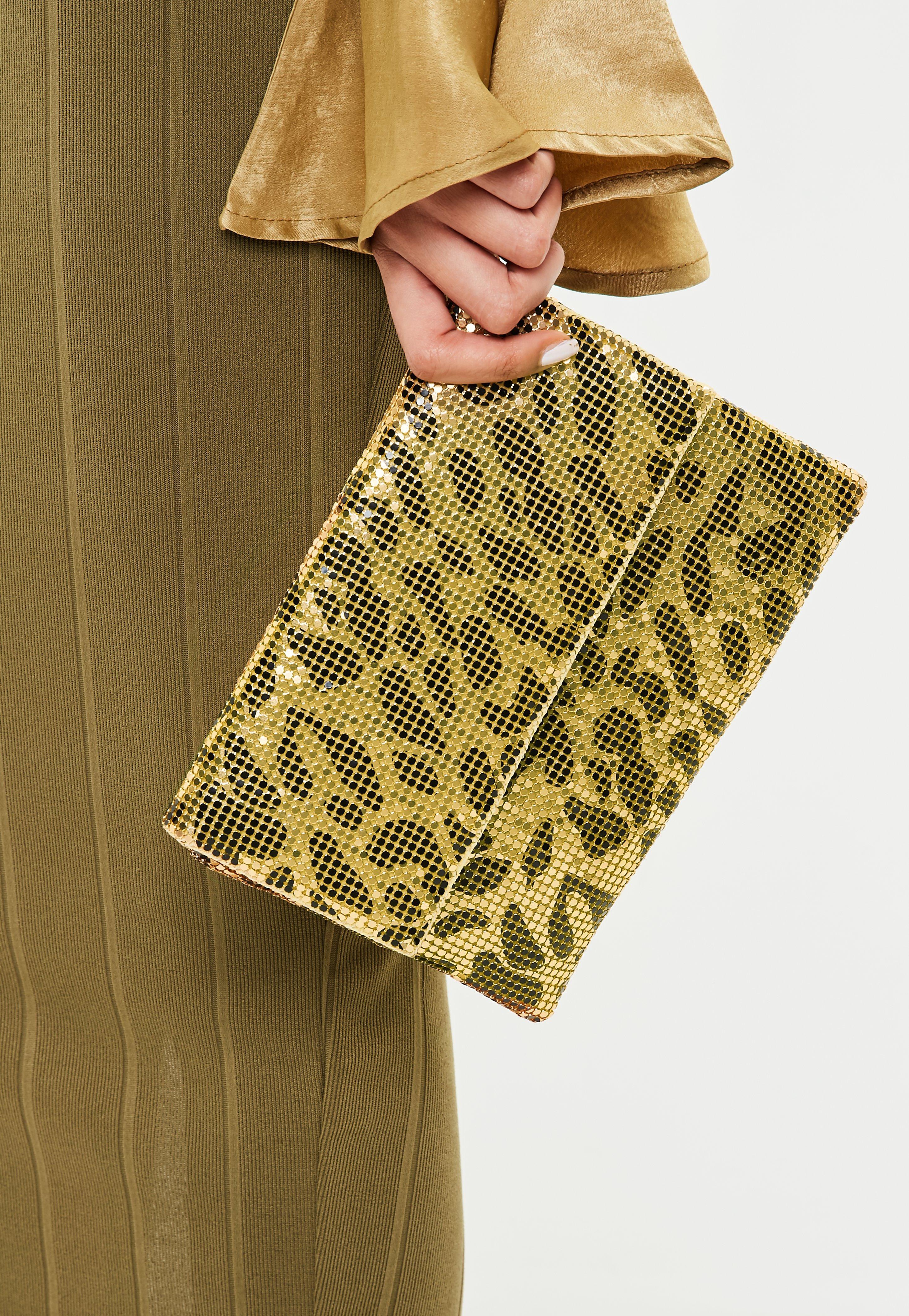 Missguided Dorée léopard en mailles métalliques hnvxibT