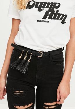 Black Tassel Belt