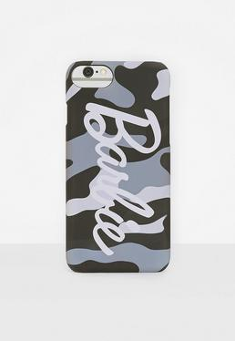 Barbie x Missguided Grey Camo Printed Iphone 7 Phone Case