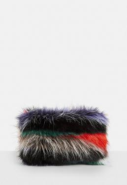 Black Fluffy Clutch