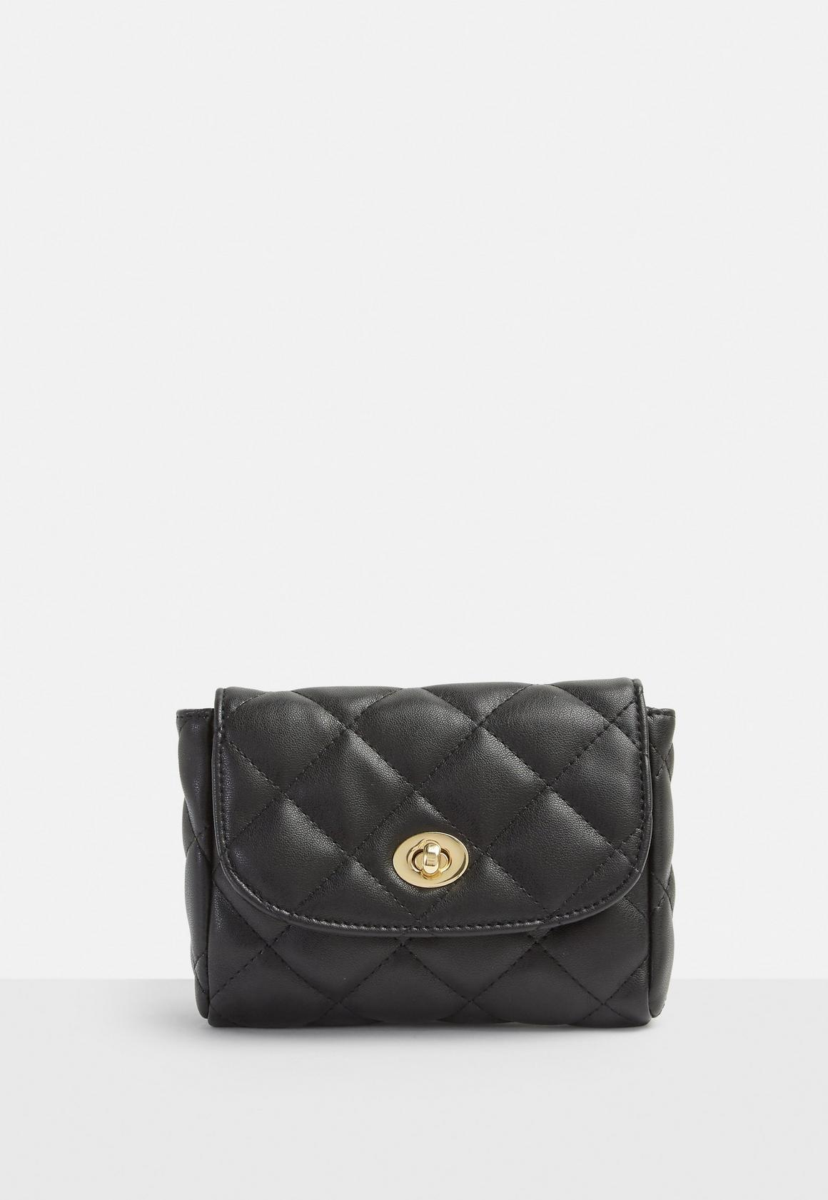 Black Quilted Chain Bum Bag | Missguided : black quilted chain bag - Adamdwight.com
