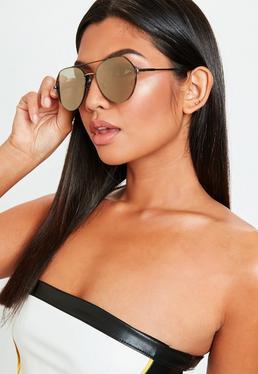 Czarne okulary przeciwsłoneczne Aviator