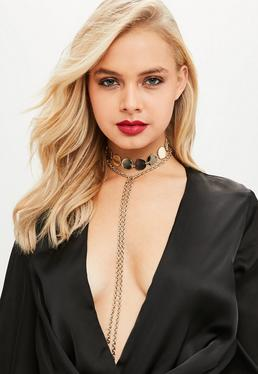 Gold Choker Lariat Belt