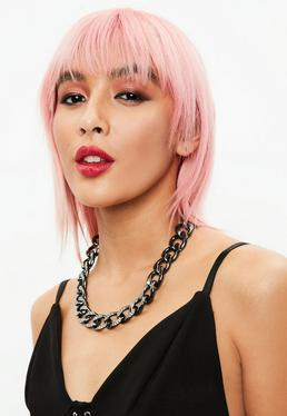 Black Thick Chain Collar Necklace