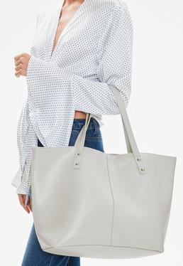 Gray Shopper Bag
