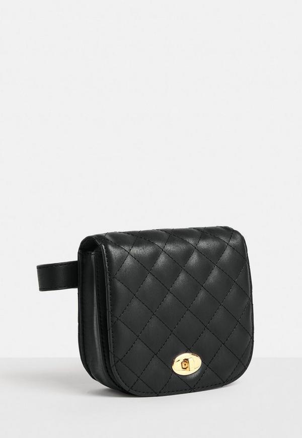 sac banane noir en simili cuir missguided. Black Bedroom Furniture Sets. Home Design Ideas
