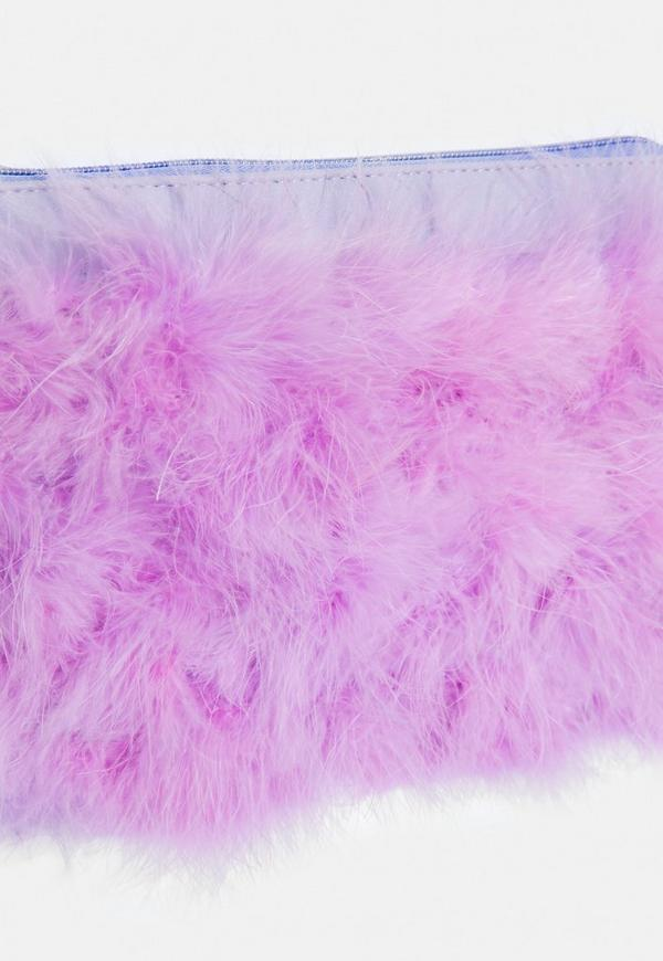 44a6cb8dd4 Purple Feather Zip Front Clutch.  20.00. Previous Next