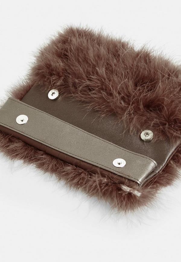 ... Brown Fluffy Feather Clutch Bag. Previous Next eca5a95b18eff