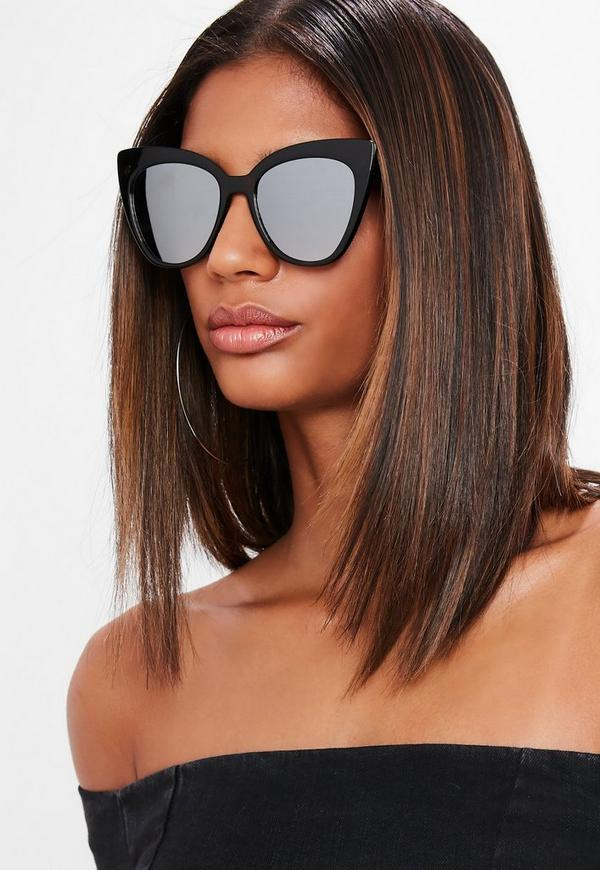 Brown Tortoise Shell Thick Cat Eye Sunglasses by Missguided