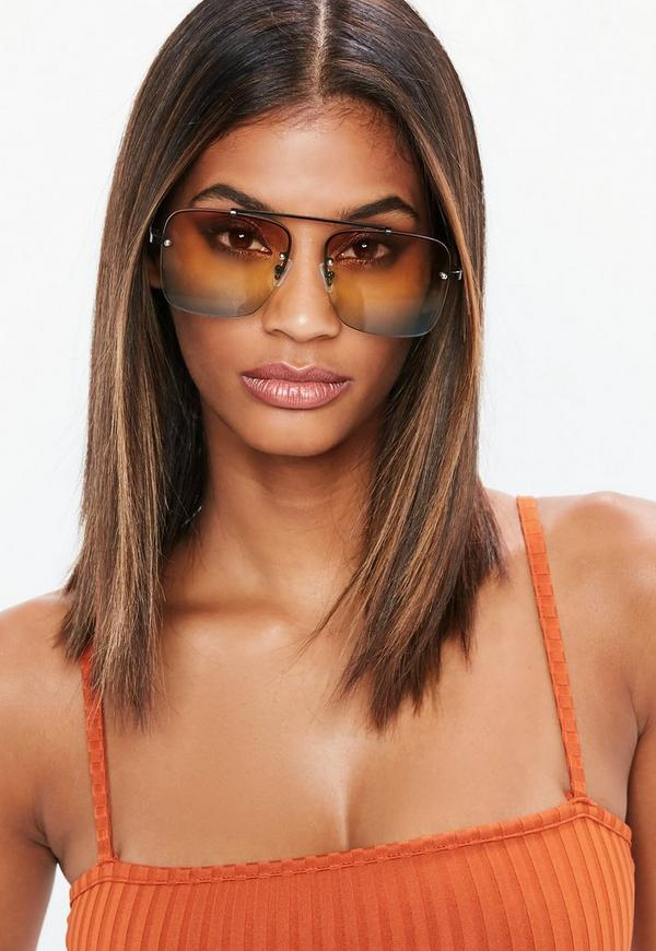 Ombre Top Bar Detail Sunglasses by Missguided