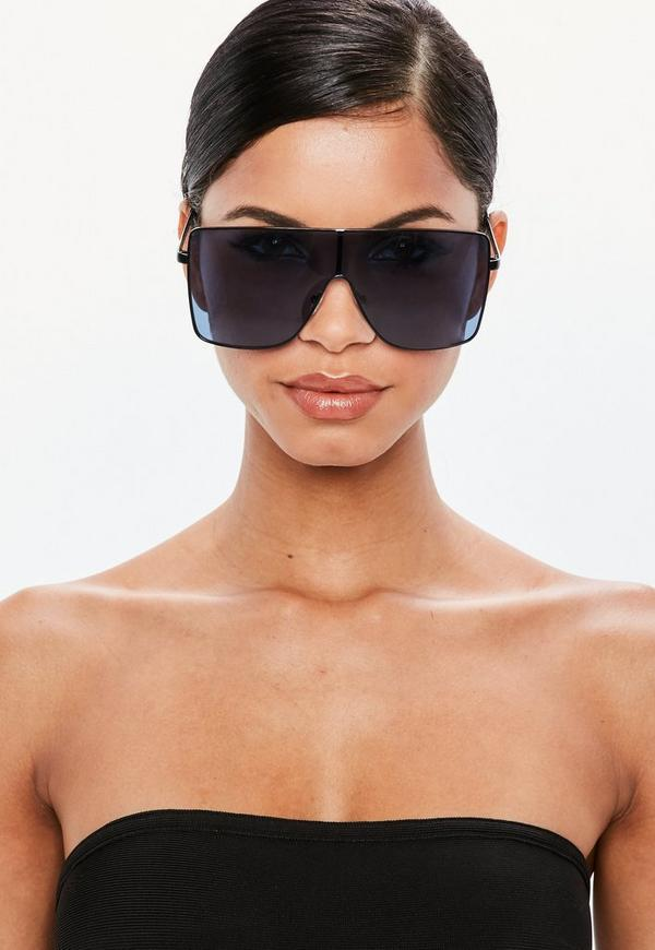 Peace + Love Blue Hater Sunglasses by Missguided