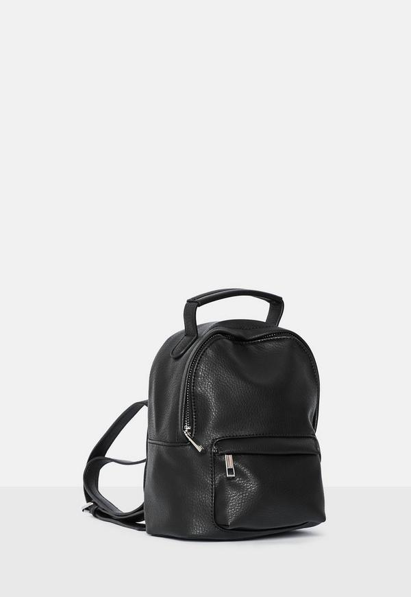 597046d8d7 Black Mini Backpack. Previous Next
