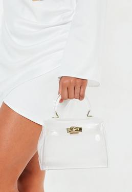 Белая прозрачная мини-сумка