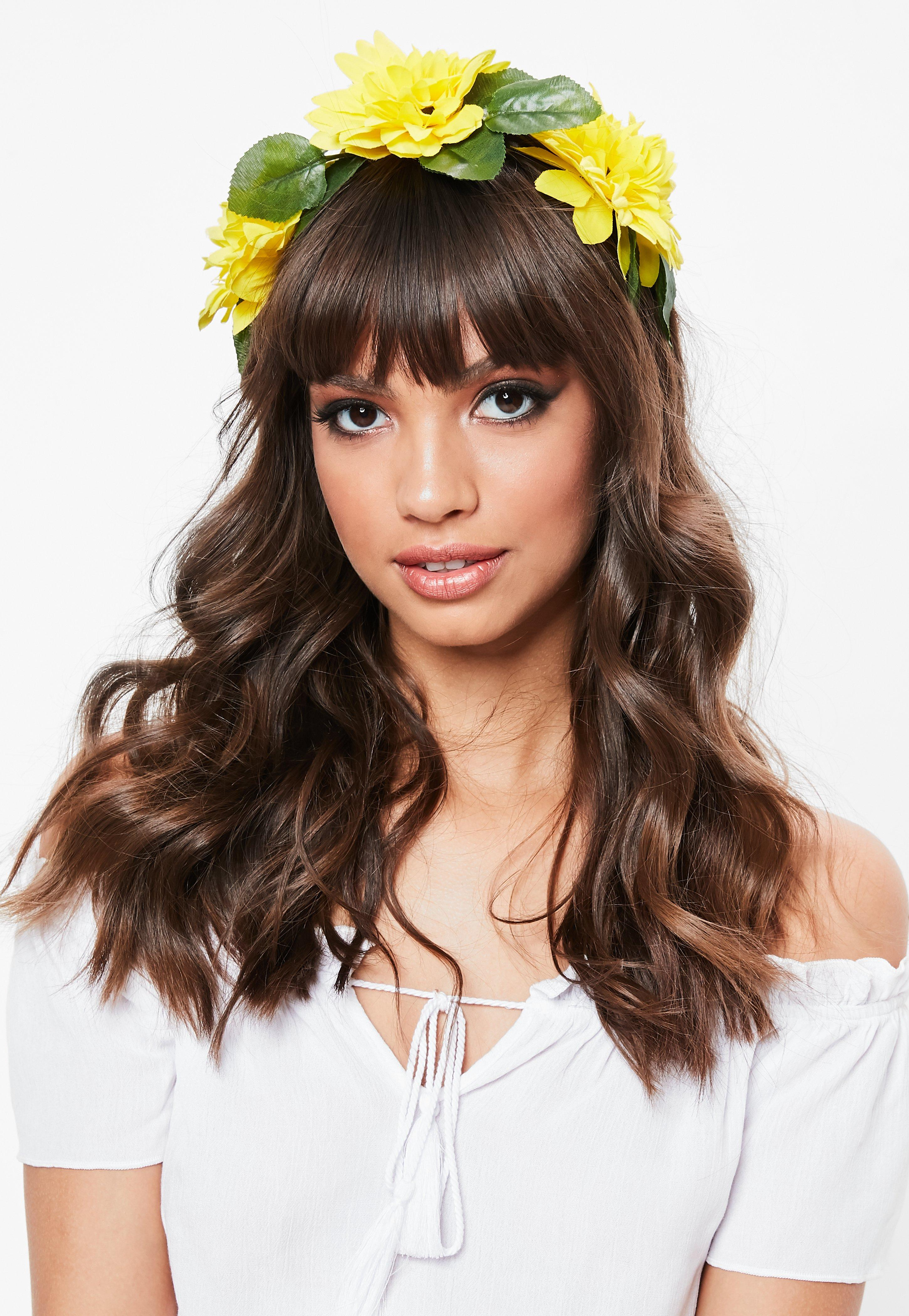 Yellow Floral Headband Missguided