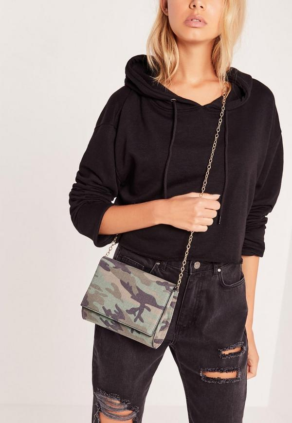 Camo Clutch Bag Khaki