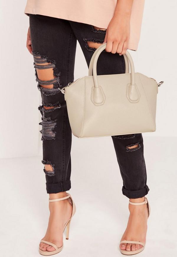 Mini Winged Tote Bag Grey